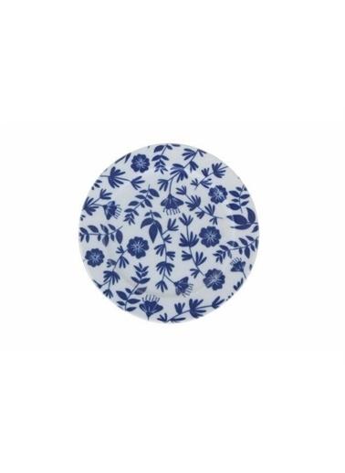 Porland Porland Blue Desen1 Düz Tabak 20cm Renkli